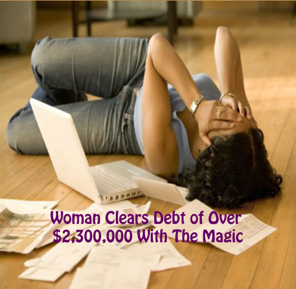 Woman Clears Debt